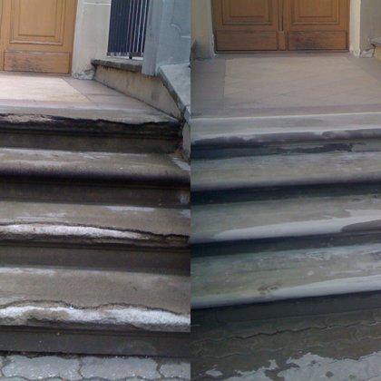 Ieejas mezgla pakāpienu profila atjaunošana